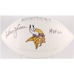 "Warren Moon Signed Vikings Logo Football Inscribed ""HOF 06"" (JSA COA)"