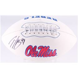Patrick Willis Signed Ole Miss Rebels Logo Football (JSA COA)