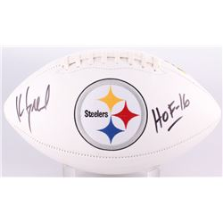 "Kevin Greene Signed Steelers Logo Football Inscribed ""HOF 16"" (Radtke COA)"