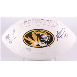 Kony Ealy  Michael Sam Signed Missouri Tigers Logo Football (Radtke Hologram)