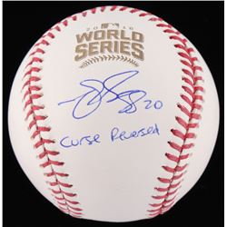 "Matt Szczur Signed 2016 World Series Baseball Inscribed ""Curse Reversed"" (Schwartz Sports COA)"