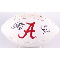 "Eddie Lacy Signed Alabama Crimson Tide Logo Football Inscribed ""11 + 12 BCS Champs"" (GTSM Hologram)"