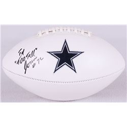 "Ed ""Too Tall"" Jones Signed Cowboys Logo Football (Radtke COA)"