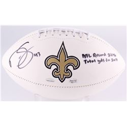 "Darren Sproles Signed Saints Logo Football Inscribed ""NFL Record 2696 Total YDS In 2011"" (Radtke  Sp"