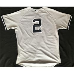 "Derek Jeter  Mariano Rivera Signed Jeter 2011 Game-Used Yankees Jersey Inscribed ""One Closer to Anot"