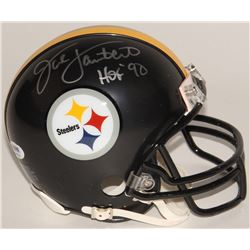 "Jack Lambert Signed Steelers Mini-Helmet Inscribed ""HOF '90"" (PSA COA)"