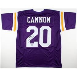 "Billy Cannon Signed LSU Tigers Jersey Inscribed ""Heisman Trophy 1959""  ""C.H.O.F"" (Radtke COA)"
