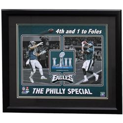 Trey Burton  Nick Foles Eagles Superbowl LII 22x27 Custom Framed Photo Display