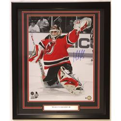 Martin Brodeur Signed Devils 22x27 Custom Framed Photo Display (Steiner COA)