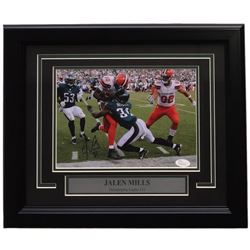 Jalen Mills Signed Eagles 14x17 Custom Framed Photo Display (JSA COA)
