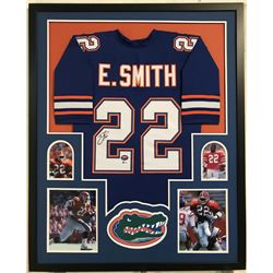 Emmitt Smith Signed Florida Gators 34x42 Custom Framed Jersey (Beckett COA)