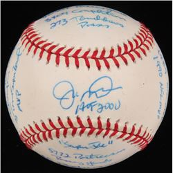 "Joe Montana Signed LE ""The Statball"" ONL Baseball with Career Highlight Stat Inscriptions (Reggie Ja"