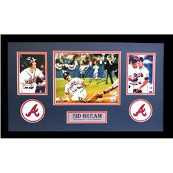 "Sid Bream Signed Braves 16x26 Custom Framed Photo Display Inscribed ""The Slide 10/14/19"" (Radtke COA"