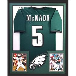 Donovan McNabb Signed Eagles 34x42 Custom Framed Jersey (Radtke COA)
