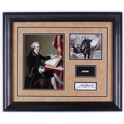 John Hancock Custom Framed 19.5x23.5 Display with (1) Hand-Written Word From Letter (JSA LOA)