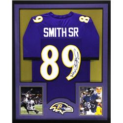 Steve Smith Sr. Signed Ravens 34x42 Custom Framed Jersey (Radtke COA)