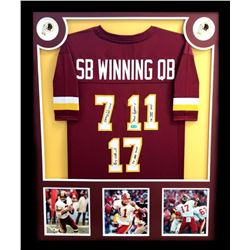 "Doug Williams, Joe Theismann  Mark Rypien Signed Chiefs 34x42 Custom Framed Jersey Inscribed ""SB XVI"