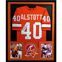 Mike Alstott Signed Buccaneers 34x42 Custom Framed Jersey (Radtke COA)