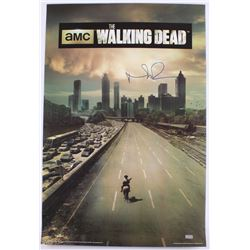 "Norman Reedus Signed ""The Walking Dead"" Season 1 24x36 Poster (Radtke COA)"