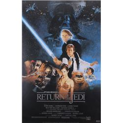 "Jeremy Bulloch Signed ""Return Of the Jedi"" 24x36 Movie Poster Inscribed ""Boba Fett"" (Radtke COA)"
