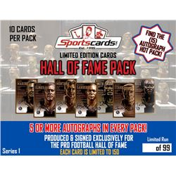 Hall of Fame Autograph Pack - (5 or more) Signed Limited Edition Cards Per Pack!