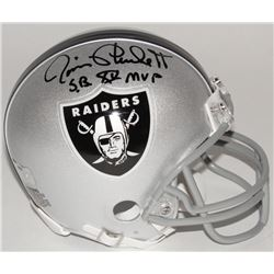 "Jim Plunkett Signed Raiders Mini Helmet Inscribed ""S.B. XV MVP"" (Radtke COA)"