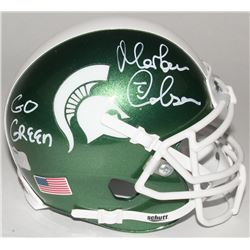 "Morten Andersen Signed Michigan State Spartans Mini Helmet Inscribed ""Go Green"" (Radtke Hologram)"