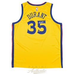 Kevin Durant Signed Warriors City Edition Jersey (Panini COA)