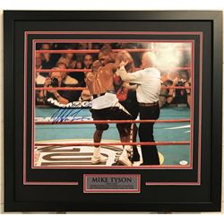 Mike Tyson Signed 23x29 Custom Framed Photo (JSA COA)