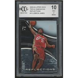 2003-04 Upper Deck Triple Dimensions Reflections #10 LeBron James (BCCG 10)