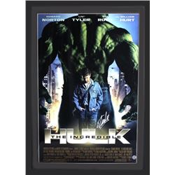 "Stan Lee Signed ""The Incredible Hulk"" 29x42 Custom Framed Poster Display (Lee Hologram)"