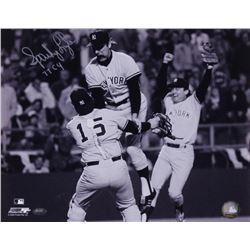 "Sparky Lyle Signed Yankees 11x14 Photo Inscribed ""77 CY"" (FSC COA)"