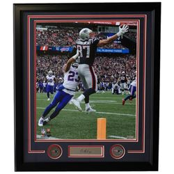 Rob Gronkowski Patriots 22x27 Custom Framed Photo Display with Laser Engraved Signature