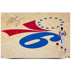 "Ben Simmons Signed 76ers ""One Step At A Time"" 20x30 Photo (UDA Hologram)"