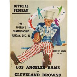 1951 NFL World Championship Los Angeles Rams vs. Cleveland Browns Original Official Program