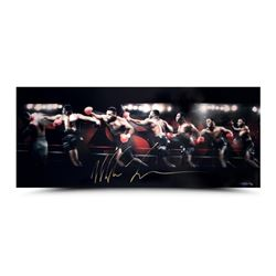 """Mike Tyson Signed """"Roundhouse"""" 15x36 Limited Edition Photo (UDA)"""