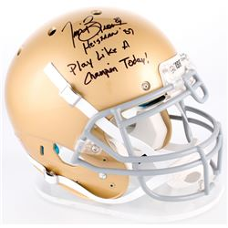 """Tim Brown Signed Notre Dame Full-Size Authentic On-Field Helmet Inscribed """"Heisman '87""""  """"Play Like"""