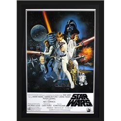 "Anthony Daniels Signed ""Star Wars: A New Hope"" 29x42 Custom Framed Poster Display Inscribed ""C3PO (R"