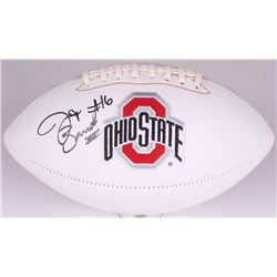 J. T. Barrett Signed Ohio State Buckeyes Logo Football (Barrett COA)