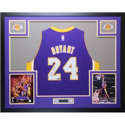Kobe Bryant Signed Lakers 35x43 Custom Framed Nike Jersey (Panini COA)