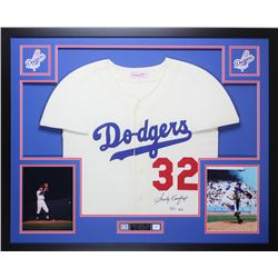 Sandy Koufax Signed Dodgers 35x43 Custom Framed Jersey (Fanatics  MLB Hologram)