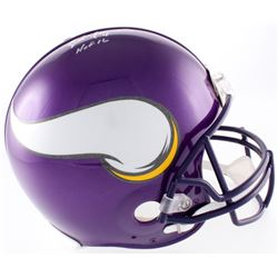 "Brett Favre Signed LE Vikings Full-Size Authentic On-Field Helmet Inscribed ""HOF 2016"" (Favre COA)"