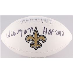 "Willie Roaf Signed Saints Football Inscribed ""HOF 2012"" (Radtke Hologram)"