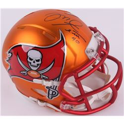 Mike Alstott Signed Buccaneers Blaze Mini Speed Helmet (Radtke COA)