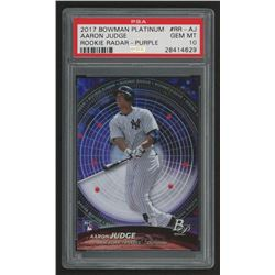 2017 Bowman Platinum Rookie Radar Purple #RRAJ Aaron Judge (PSA 10)