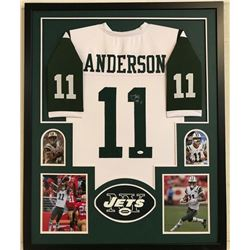 Robby Anderson Signed Jets 34x42 Custom Framed Jersey Display (JSA COA)