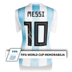 Lionel Messi Signed 2018 FIFA World Cup Argentina Jersey (Icons Sports Hologram)