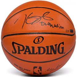"""Kevin Durant Signed Spalding Game Ball Series Basketball Inscribed """"Dub Nation"""" (Panini COA)"""