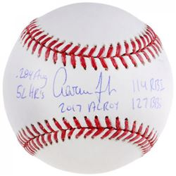 Aaron Judge Signed Limited Edition OML Baseball with (5) Stat Inscriptions (Fanatics  MLB Hologram)
