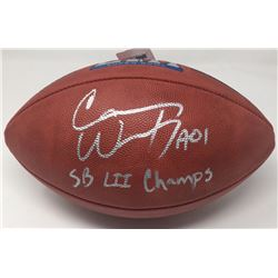"""Carson Wentz Signed """"The Duke"""" Super Bowl LII Official NFL Game Ball Inscribed """"SB LII Champs"""" (Fana"""